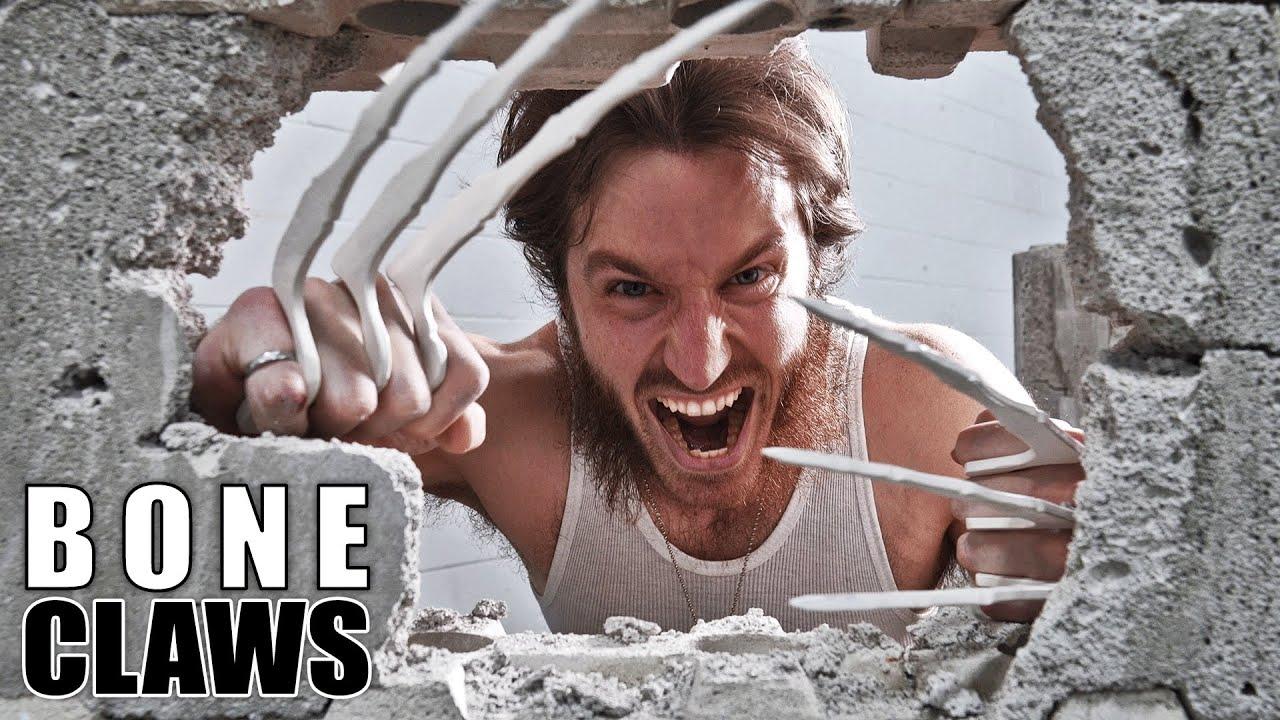 Wolverine Bone Claws VS CONCRETE!