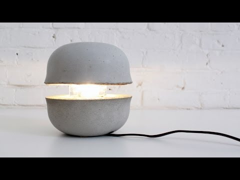 Learn How to Make a Concrete Lamp