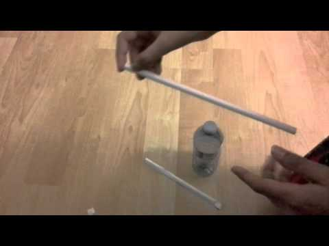 Magic trick: how to move a straw without touching the straw!