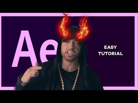 Super Easy Animated Devil Horn Music Video / Horror Movie Effect   Adobe After EFfects