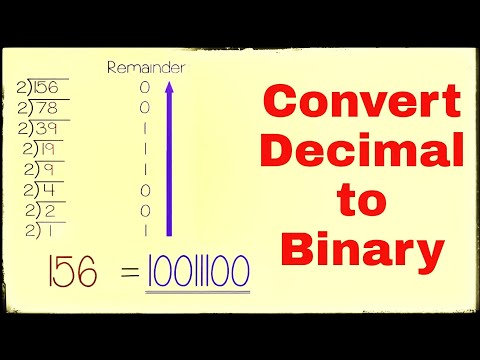 Convert decimal to binary number