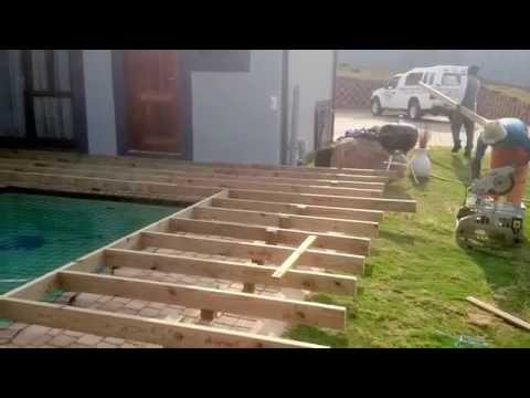 Wooden pool deck in Hillcrest, Durban