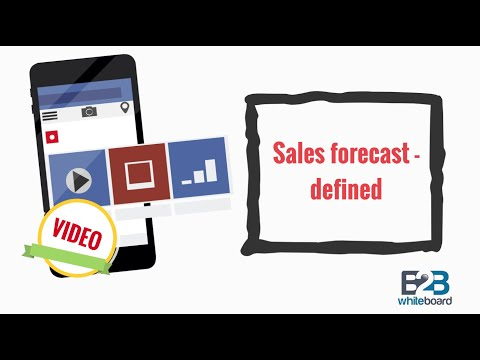 Sales forecast - defined