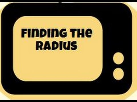 Finding the radius of a circle