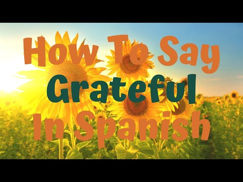 How Do You Say Grateful In Spanish