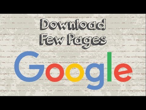 How to download a few pages of books from Google Book without any software