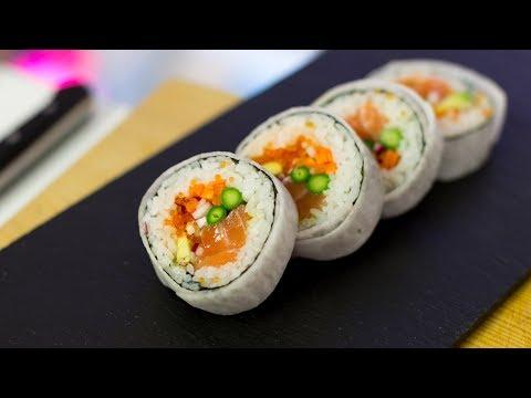 Futomaki Sushi Roll Recipe - How to Make Sushi