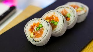 Marble Futomaki Sushi Roll Recipe - How to Make Sushi