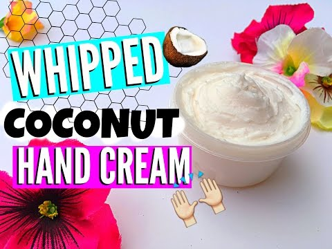 DIY Whipped Coconut Hand Cream //EliseLife