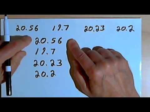 Ordering Decimals 127-4.4