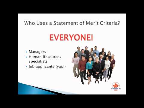 Statement of Merit Criteria: The Critical Document for a Successful Government Job Search