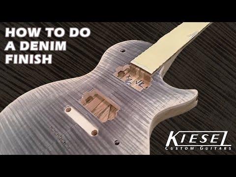 How to Finish a Guitar / Denim Burst finish by Jeff Kiesel