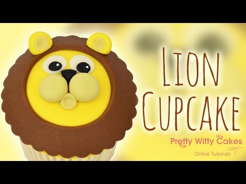 How to Make a Lion Cupcake Topper - Pretty Witty Cakes