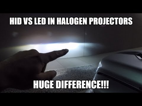 LED vs HID in Factory Halogen Projector Headlights