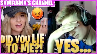 """Brooke almost 😱LEFT ME😱 when Twitch Chat SNITCHED """"Symfuhny LIED"""""""