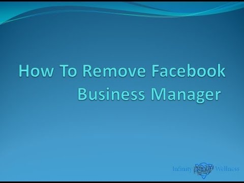 How To Remove Facebook Business Manager