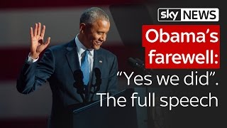 Barack Obama's farewell:
