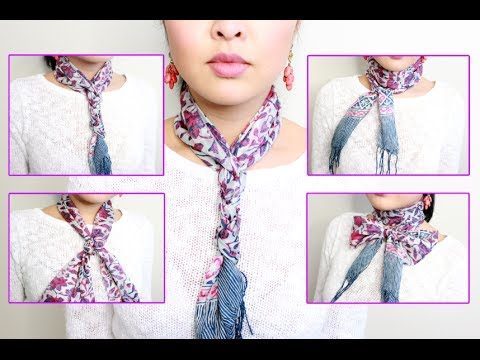 HOW TO: Tie A Neck Scarf IN 5 MINUTES!