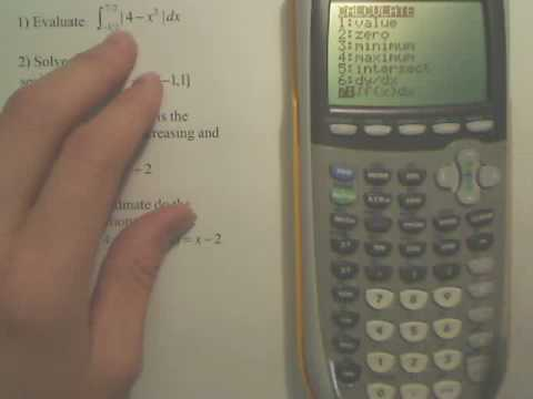 Definite Integration on Graphing Calculator
