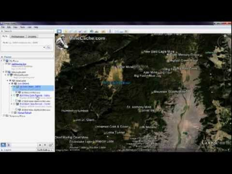MineCache.com Gold Prospecting Locations in Google Earth