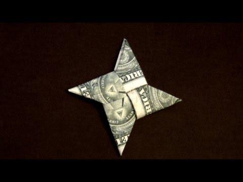 Dollar Origami Ninja Star Tutorial - How to make a Dollar Ninja Star