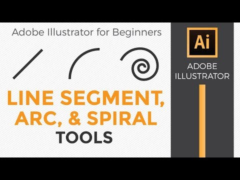 Line segment, Arc, and Spiral tools - Adobe Illustrator for Beginners - Graphic Design How to