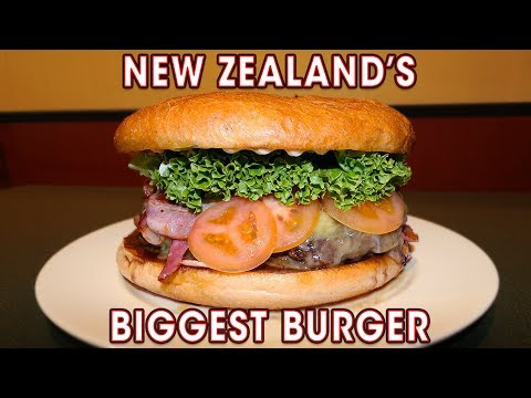 NEW ZEALAND'S BIGGEST BURGER CHALLENGE!!