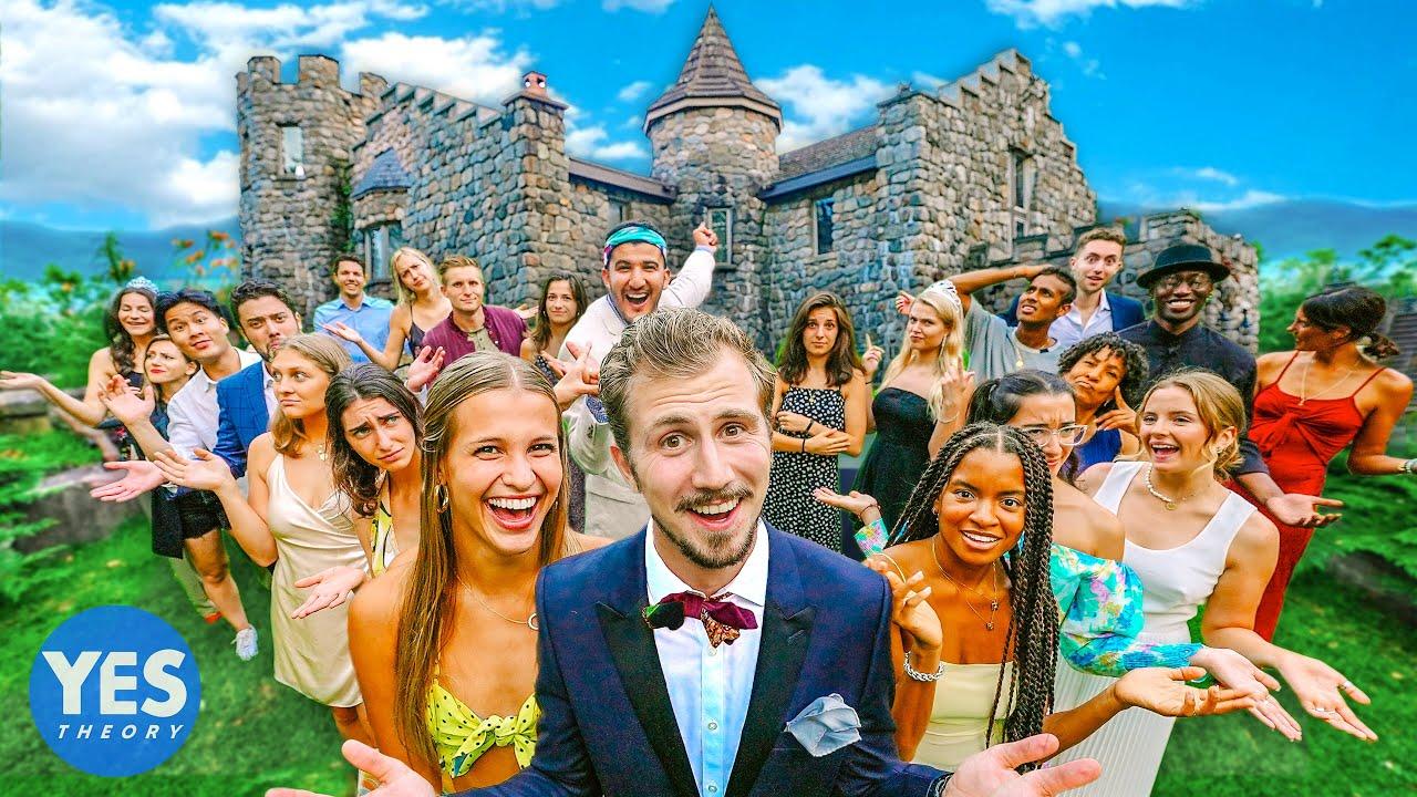 ASKING 30 STRANGERS TO SLEEP IN A CASTLE!!