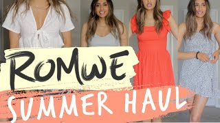 ROMWE SUMMER TRY-ON HAUL - UNBOXING - FIRST IMPRESSION