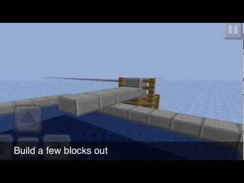 Minecraft Pe: how to make a small diving board