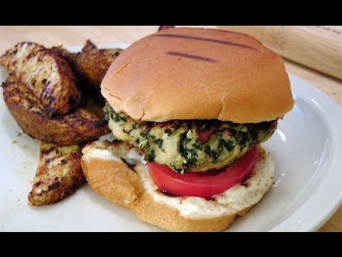 Spinach Turkey Burgers - Recipe by Laura Vitale - Laura in the Kitchen Episode 119
