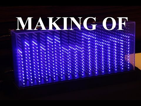 3D Spectrum Analyser (1280 LEDs) - MAKING OF