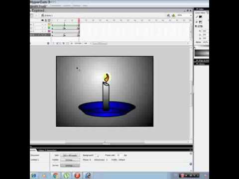 How to make burning candle in flash 8 easy