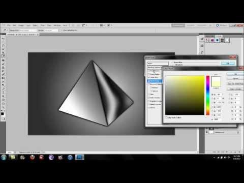 Adobe Photoshop Tutorial | How To Create a Chrome 3D Pyramid
