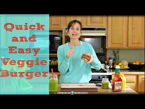 Veggie Burger Recipe - Easy, Quick and Delicious