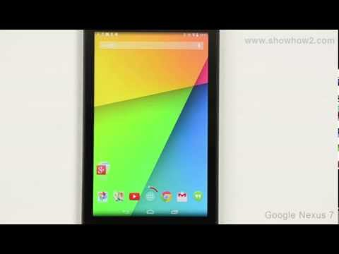 Google Nexus 7 - Remove Email Account