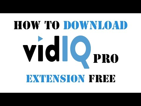 How to Download VidIQ Pro Extension FREE