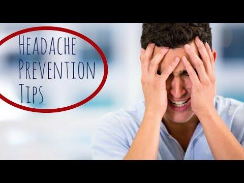 how to prevent headaches ? Headache prevention tips