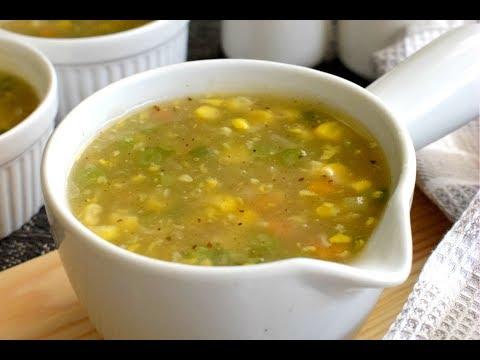 Sweet Corn Veg Soup - Restaurant Style