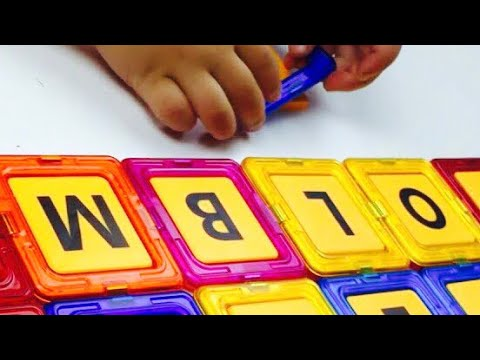 ABC magnet squares, MAGPLAYER, Shapes with letters, Let's play kids. throwback