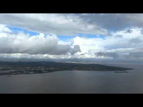 Landing at Cardiff Airport (Wales)