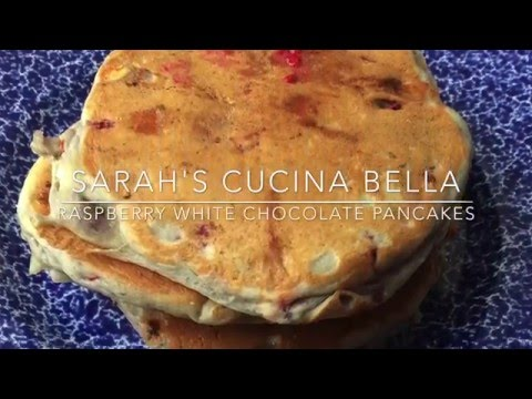 Raspberry White Chocolate Pancakes COOKING VIDEO - SCB Cooks #10