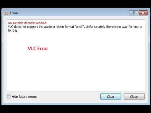 VLC undf format not supported - solved