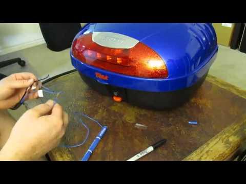 Taotao ATM150-A Evo scooter - Bestem T-Box trunk LED light wiring (part D-1)