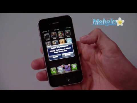 How to delete an app on iPhone4
