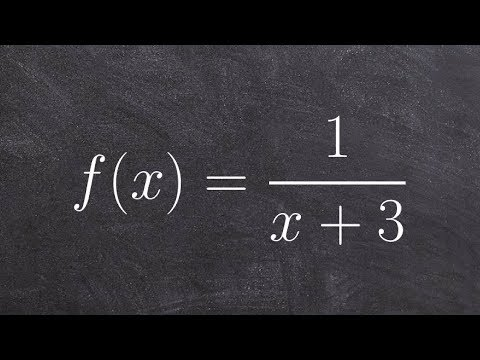 Pre-Calculus - Find the domain of the reciprocal function, f(x) = 1/(x + 3)