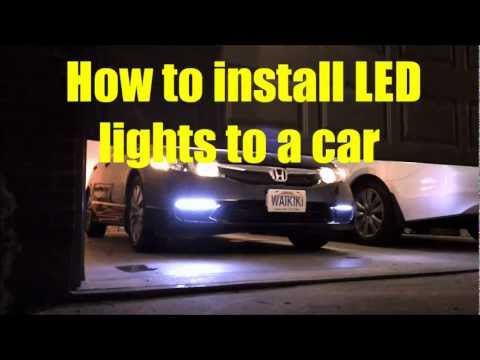 ★How to install LED lights to a car 【Only with $3】★