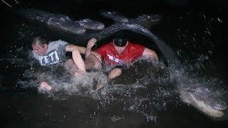 DO NOT SWIM WITH GATORS AT 3AM | Overnight Challenge At Gatorland | OmarGoshTV