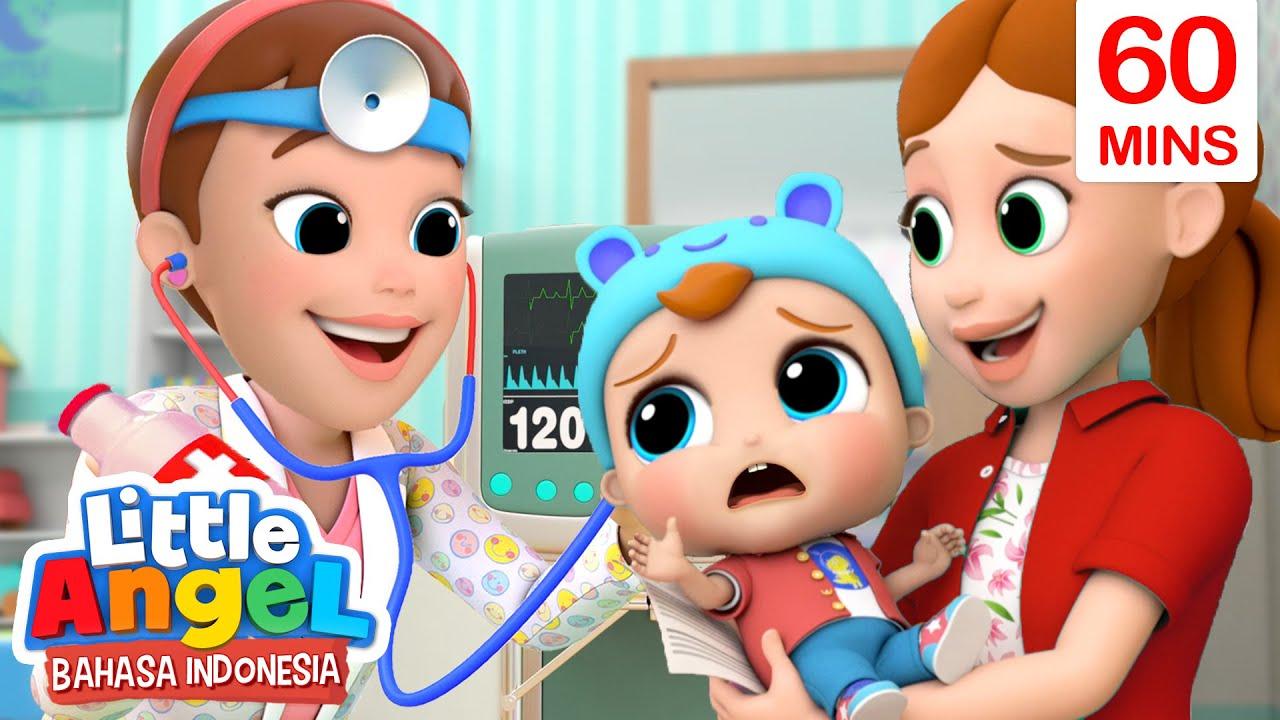 Jangan Takut ke Dokter Baby John | Kartu Anak | Little Angel Bahasa Indonesia