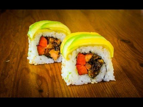 Mango Avocado Sushi Roll Recipe - How To Make Sushi Rolls